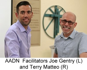 AADN Facilitators Joe Gentry (L) and Terry Matteo (R)
